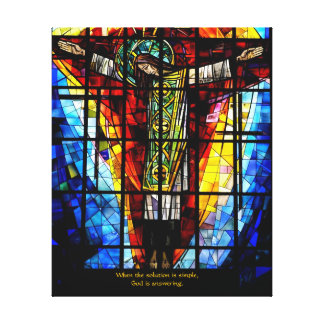 stained glass Jesus Canvas Print