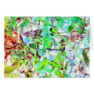 Stained Glass Jungle Garden Art Photo Blank Inside Card