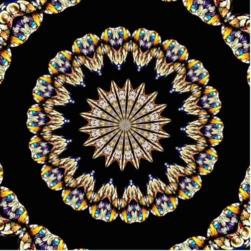 Stained Glass Kaleidoscope 1 Acrylic Cut Out