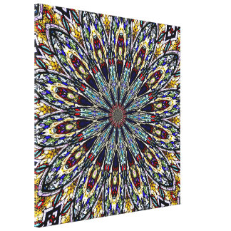 Stained Glass Kaleidoscope #1 Wrapped Canvas