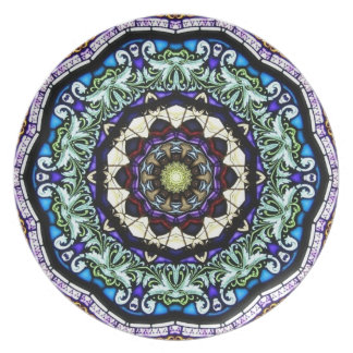 Stained Glass Kaleidoscope #2 Dinner Plate