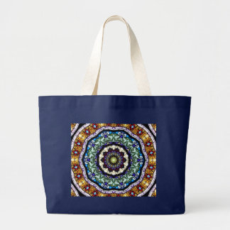 Stained Glass Kaleidoscope #2 Large Tote Bag
