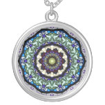 Stained Glass Kaleidoscope #2 Personalized Necklace