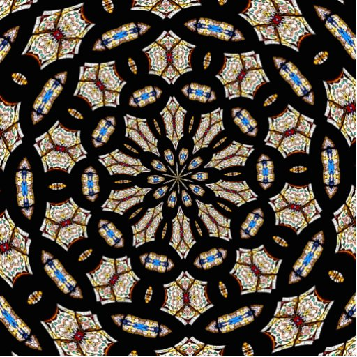 Stained Glass Kaleidoscope 2 Acrylic Cut Out