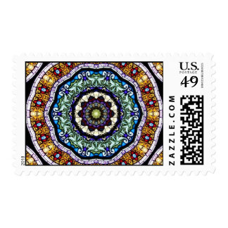 Stained Glass Kaleidoscope #2 Postage Stamps
