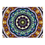 Stained Glass Kaleidoscope #2 Postcard