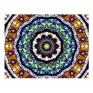 Stained Glass Kaleidoscope 2 Postcard