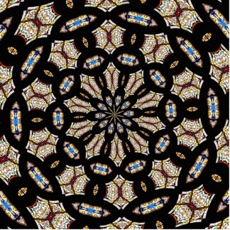 Stained Glass Kaleidoscope 2 Statuette