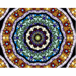 Stained Glass Kaleidoscope #2 Statuette