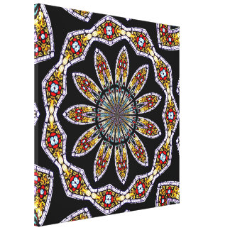 Stained Glass Kaleidoscope #2 Wrapped Canvas