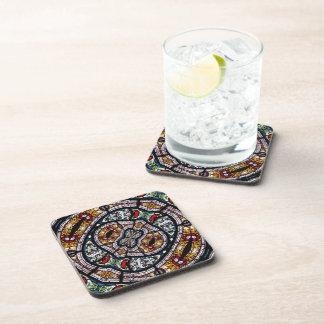 Stained Glass Kaleidoscope 3 Beverage Coaster