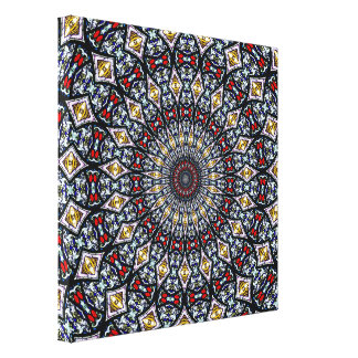 Stained Glass Kaleidoscope #3 Wrapped Canvas