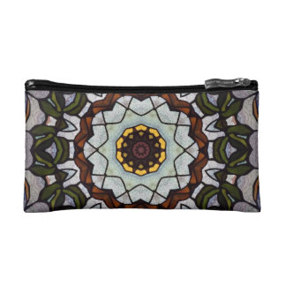 Stained Glass Kaleidoscope Cosmetic Bag