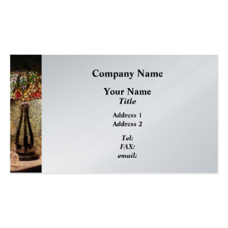 Stained Glass Lamp and Vase of Flowers Business Cards