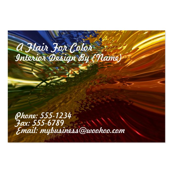 Stained Glass Large Business Card