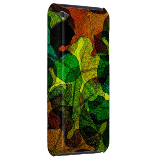 stained glass leaves abstract art iPod touch Case-Mate case