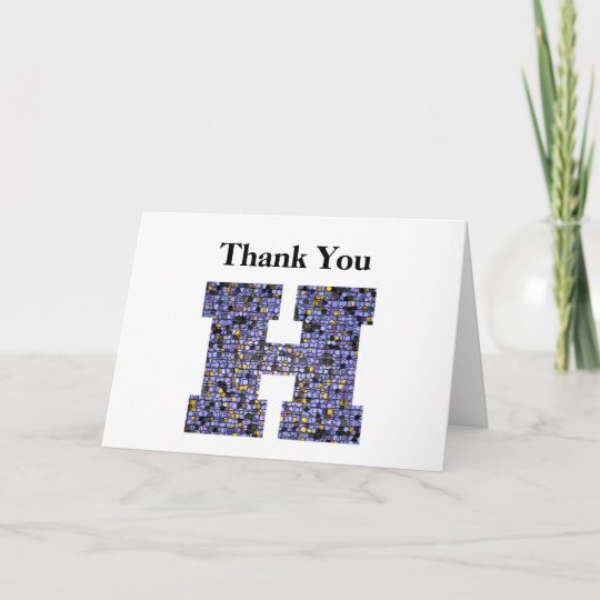Stained Glass Letter H Wedding Gift Thank You Zazzle Com