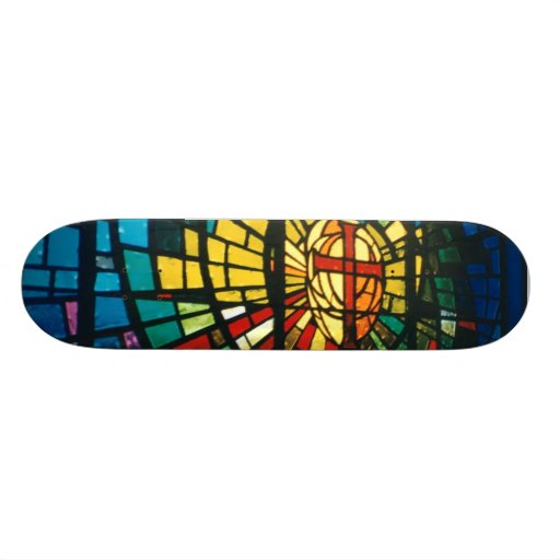 Stained Glass Light Prism colors Skateboard deck