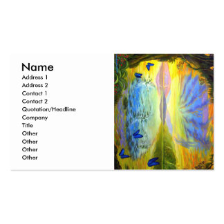 Stained Glass Like Flower plus Fantasy Art Double-Sided Standard Business Cards (Pack Of 100)