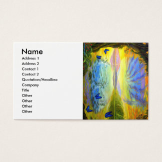 Stained Glass Like Flower plus Fantasy Art Business Card