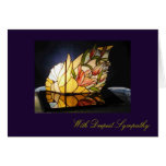 Stained Glass Lily Bouquet Sympathy Greeting Card