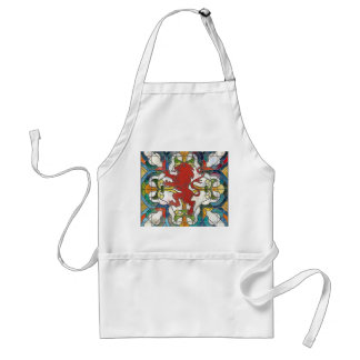 Stained Glass Lion Crest Adult Apron