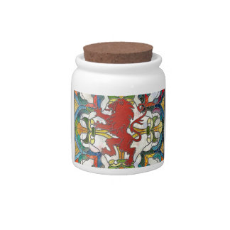 Stained Glass Lion Crest Candy Dish