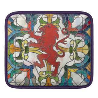 Stained Glass Lion Crest iPad Sleeve