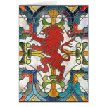 Stained Glass Lion Crest Stationery Note Card
