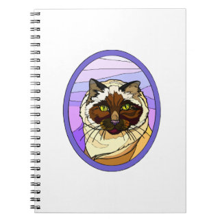 Stained Glass Look Cat 2 Notebooks