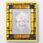 Stained Glass Look Custom Photo Display Plaque