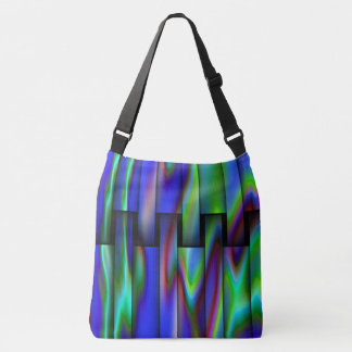 Stained Glass Look Design Crossbody Bag