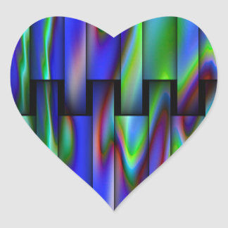 Stained Glass Look Design Heart Sticker
