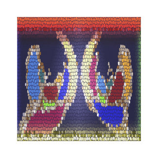 Stained Glass Look - Helping Hands Gallery Wrapped Canvas