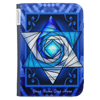 Stained Glass Magen David (Personalized) Kindle Covers