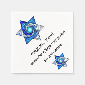 Stained Glass Magen David (Personalized) Paper Napkin