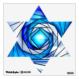 Stained Glass Magen David Wall Sticker