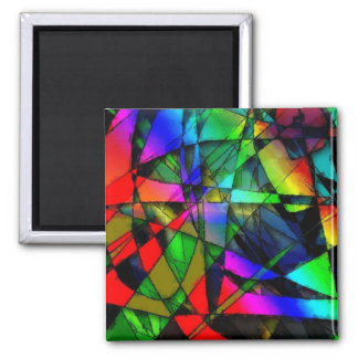 Stained glass refrigerator magnet