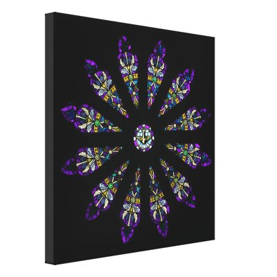 Stained Glass Mandala Canvas Print
