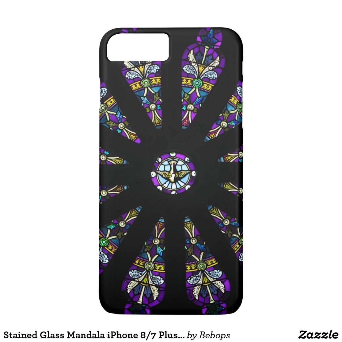 Stained Glass Mandala iPhone 7 Plus Case