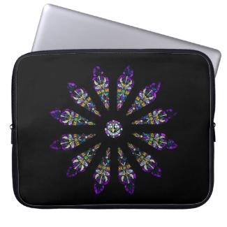 Stained Glass Mandala Laptop Sleeve