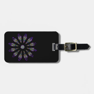Stained Glass Mandala Luggage Tag