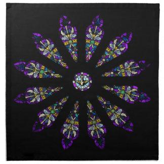 Stained Glass Mandala Napkins