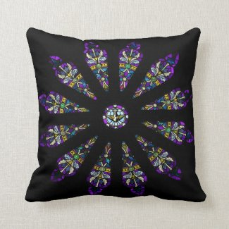 Stained Glass Mandala Pillow