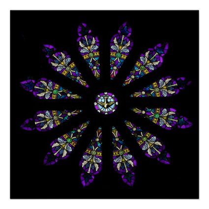 Stained Glass Mandala Print