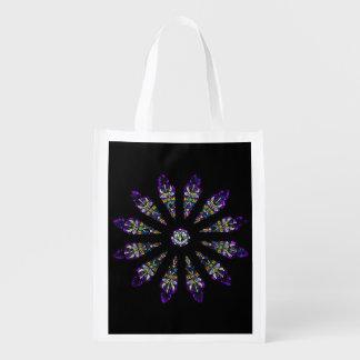 Stained Glass Mandala Reusable Bag Grocery Bag
