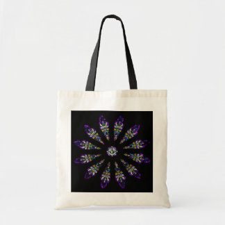 Stained Glass Mandala Tote Budget Tote Bag