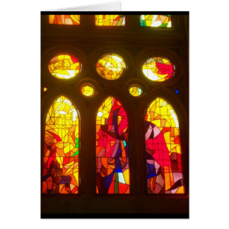 Stained Glass Merry Christmas Card