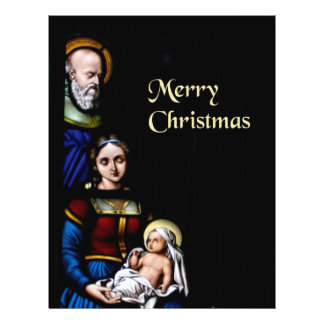 Stained Glass Merry Christmas Flyers