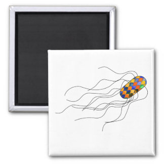 Stained glass microbe magnet
